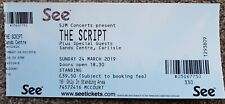 The Script - 24th March 2019 - Ticket Stub