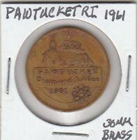 *(T) Token - Pawtucket, RI - Diamond Jubilee - 1961 - 30 MM Brass