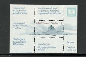 GREENLAND - HAFNIA'87 - SOUVENIR SHEET #199 - MNH