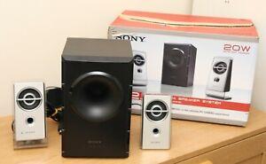 Boxed Sony Speakers SRS-D21 Computer Laptop 3.5mm Jack Subwoofer 240V 2.1 sound