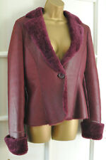 EMPORIO ARMANI Burgundy Real Sheepskin/Shearling Jacket/Coat RRP £595