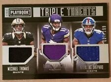Thomas, Treadwell & Shepard 2016 Playbook Triple Threats Jersey Card 37/199