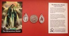 MIRACULOUS MEDAL WITH HOLY CARD (GOOD QUALITY, ITALIAN MADE)