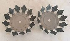 "4 5/8"" STAMPED STEEL FLOWER  BOBECHE WITH 12 PETALS -raw unfinished steel"