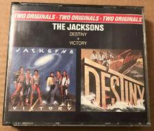 The Jacksons Michael Jackson - Destiny + Victory 2 x Cd Box Set Rare Now Deleted