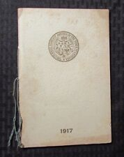 1917 National Society COLONIAL DAMES OF AMERICA State of Louisiana VG