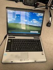 """Toshiba Satellite A100 15.4"""" Intel Retro Gaming Laptop Windows XP Pro DVD WiFi"""