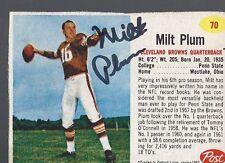 Cleveland Browns MILT PLUM Signed Card