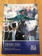 Epsom DERBY 2008 Racecard Excellent Condition mark free