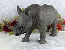 Gartenfigur XL Nashorn Skulptur Figur Tierfigur Afrika Rino Statue Safari