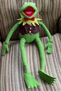"Vintage Eden Macy's Kermit The Frog Muppets Plush Plaid Vest & Bow Tie 24"" USED"