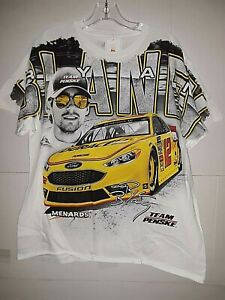 Ryan Blaney Nascar #12 Total Print T-shirt     size  XL