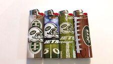 BIC NFL New York Jets Lighters Set of 4 New Helmet Logo Designs!