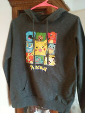 Pokemon Juniors Pikachu Grey Pullover Hoodie - perfect lightly used condition