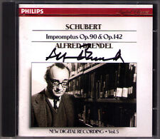 Alfred Brendel Firmato Schubert 8 Impromptus d.899 & 935 CD PHILIPS op.90 142
