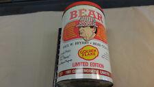 1981 Alabama Golden Flake Tin Bear Bryant Can