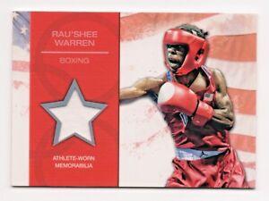 2012 Topps USA Olympic Team Relic Rau'Shee Warren Bantamweight Boxing WBA IBO