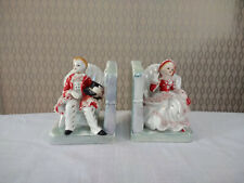 Vintage Porcelain Victorian Style Bookends Book End