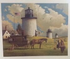Charles Wysocki The Three Sisters of Nauset-1880 LE mint COA Lighthouse signed