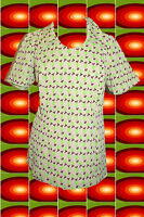 G2 original 70er Jahre Retro Panton Ära Bluse Shirt Hippie Vintage Muster Gr. 44