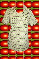 G3 Original 70er Years Retro Panton Era Blouse Shirt Hippie Vintage Pattern Size.