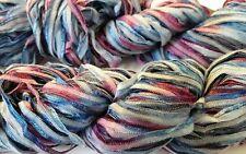 Ribbon Yarn Lot of 2 Berroco Zen Color 8117 Nippon Blues 50g 110yds Cotton Blend