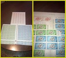 Italia 1964 Settimi stati generali dei Comuni 3 fogli interi francobolli NUOVO