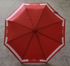 COACH HC Lock Up Retractable Umbrella F63689, SV/Carmine/Peach Rose