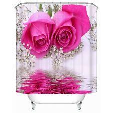 Pink Roses 3D Shower Curtain Bathroom Decor