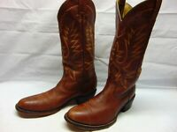 Morgan Miller Men's 8.5 D Brown Leather Round Toe Pull On Western Cowboy Boots