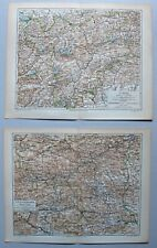 Sammlung Österreich und die Alpen - 11 Landkarten 1895-1905