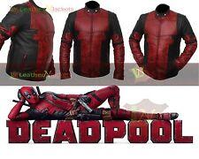 Deadpool Ryan Reynolds Wade Wilson New Waxed Real Genuine Leather Costume Jacket