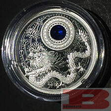 2016 September-Birthstones Crystal Proof $5 Silver Coin 1/4 oz  Fine Silver