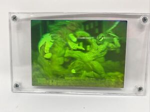 1993 Marvel Universe Skybox #H-IV Spider-Man vs Venom 3D Hologram