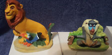 Lenox Disney Lion King Ceramic Collectable Thumble Figurines 2 sets!