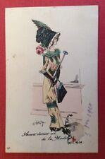 CPA. Illustrateur ROBERTY. Avant dernier cri de la Mode. 1910. Chapeau Plume.