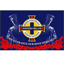 Large Northern Ireland Irish Football Poppy Remembrance 5Ft x 3Ft  Flag