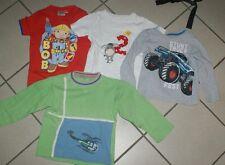 4 Kinder Jungen T-Shirt / Sweat Shirt Gr 98/104/110 Posten Paket Konvolut