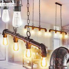 Pendel Leuchten rostfarben Hänge Lampen Retro Wohn Schlaf Ess Zimmer Beleuchtung