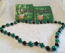 St. Patrick's Day Two Pkg Napkins and Necklace