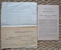 Rare - WW2 - Document sur la Libération de L'Isle-Adam - Seconde Guerre Mondiale