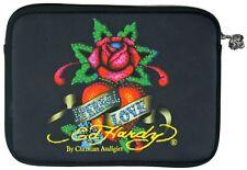 Ed Hardy by Christian Audigier Black IPad Tablet Sleeve Cover