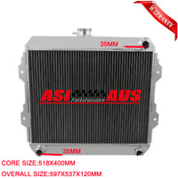 3Row Radiator For 1988-97 Toyota Petrol Hilux YN85 RN85 22R 2.4L MT 89 90 91 92