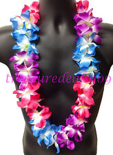 100 Led Light Up Hawaiian Lei Flashing Flowers Luau Hawaii Hula Necklace Party