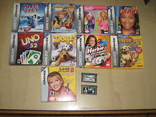 Lot Of 11 Nintendo Game Boy Advance Children's Video Games - Disney Sims Barbie