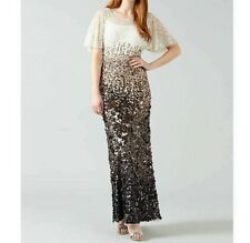PHASE EIGHT NWOT Contina Sequin Bodycon Maxi Ballgown Evening Dress Size 12
