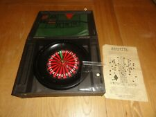 More details for rare vintage boxed chad valley wooden roulette & cloth
