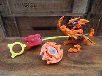 Beyblade Salamalyon  w/ Figure  Rip Cord and Launcher - Salamander