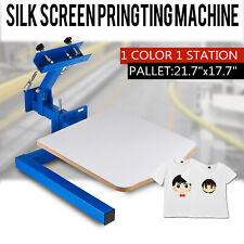 1 Color Silk Screen Printing Machine 1 Station Press Printer DIY Shirt Equipment