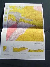 carte géologique MAZAMET BOUT-DU-PONT-DE-LARN PONT-DE-LARN PAYRIN-AUGMONTEL